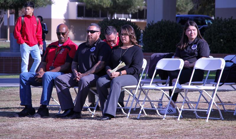 Tommy Tunson, Armando Trujillo, Rich McCrow, Jenny Frank, and SGA Pres. Samantha Pulido