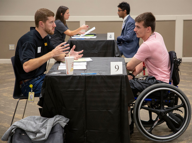 Buckeye Careers Mock Interviews September 4, 2019 (Jim Bowling - The Ohio State University Office of Student Life)