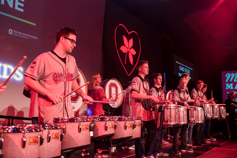 2018 BuckeyThon Drum Line and Dancing