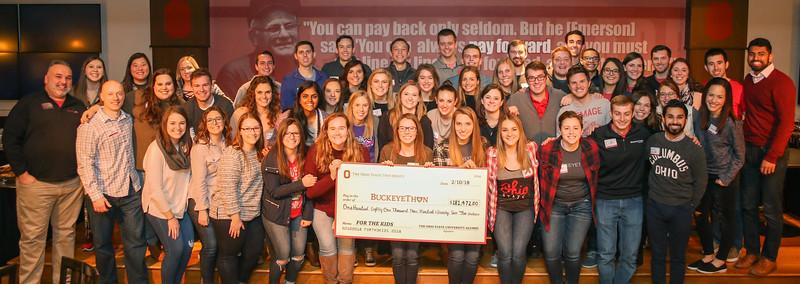 2018 BuckeyeThon Alumni Reception Group Photo