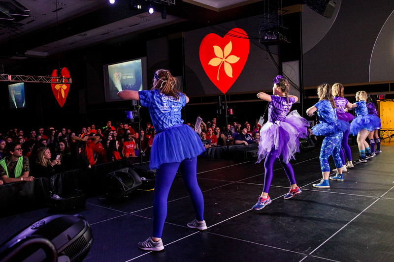 Students from OSU participate in the annual BuckeyeThon Dance Marathon to raise money for children with cancer.
