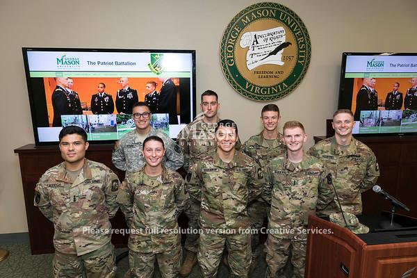 George Mason University's Reserve Officer Training Corps program.  Photo by:  Ron Aira/Creative Services/George Mason University