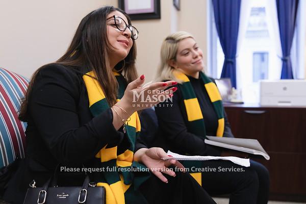 Mason Lobbies, Kimberly Posada, Isabella D'Alacio, Richmond, student government