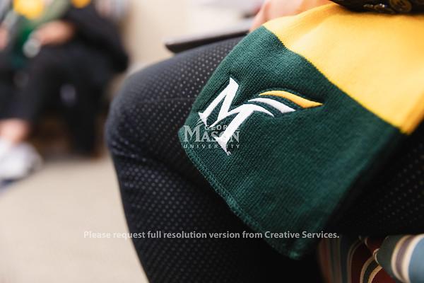 Mason Lobbies, green and gold scarf, Richmond