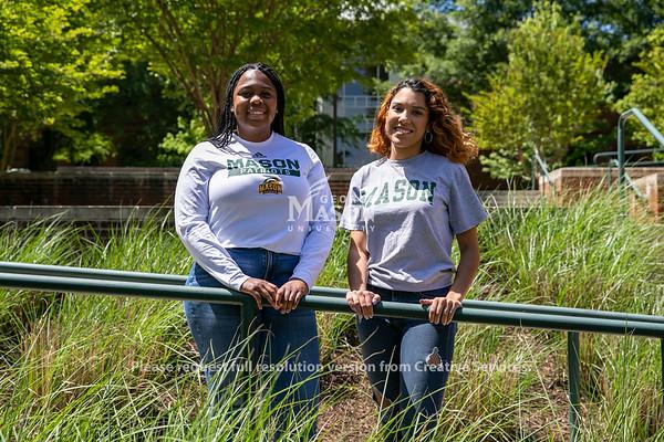 2021-2022 Student Body President Natalia Kanos, left, and Vice President Veronica Mata. Photo by: Shelby Burgess/Strategic Communications/George Mason University