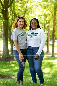 2021-2022 Student Body President Natalia Kanos, right, and Vice President Veronica Mata. Photo by: Shelby Burgess/Strategic Communications/George Mason University