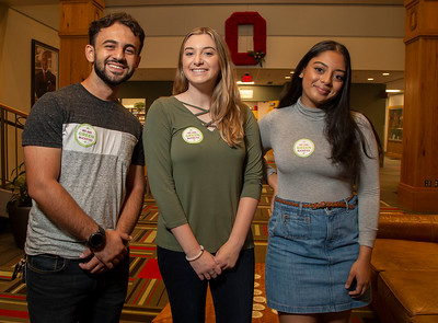 Green Buckeye marketing photos August 27, 2019 (Jim Bowling - The Ohio State University Office of Student Life)