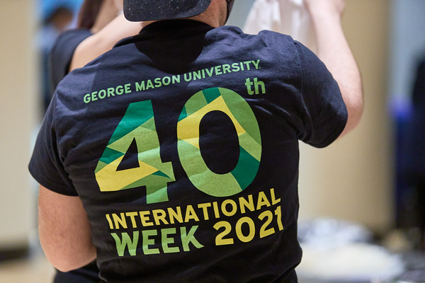 International Week Kick Off t-shirts, Photo By Ian Shiff/Creative Services/George Mason University
