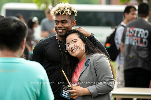 Night Market 2019 at Merten Hall lawn.  Photo by:  Ron Aira/Creative Services/George Mason University