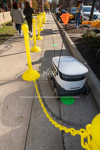 Starship delivery robot at Gold Rush