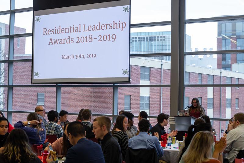 2019 Residential Leadership Awards Ceremony