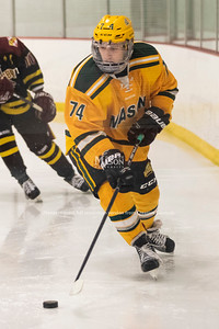 George Mason University sophomore and former junior hockey player Cameron Smith. Photo by Lathan Goumas/Strategic Communications