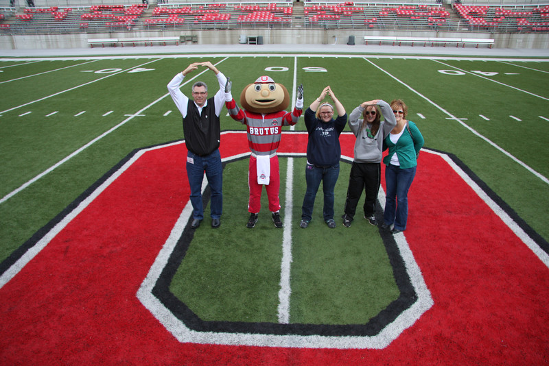 2011 PFW Family Pictures at the 50 Yard Line