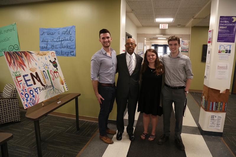 2017 President Drake at the Baker Art Gallery