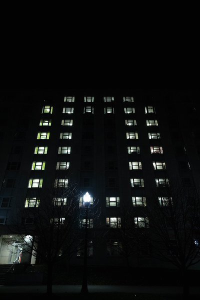 Light Up Siebert on Monday November 25, 2019 (Ryan Walston - The Ohio State University Office of Student Life)