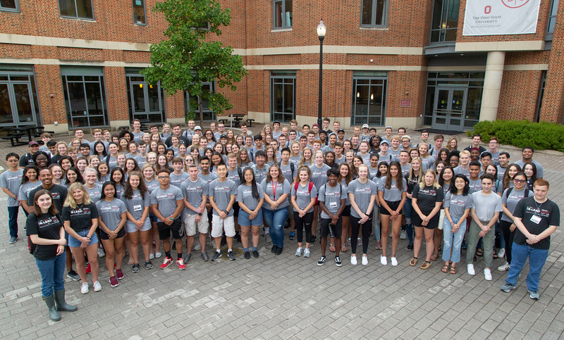 R LEAD group photo taken on August 13, 2019 (Jim Bowling - The Ohio State University Office of Student Life)