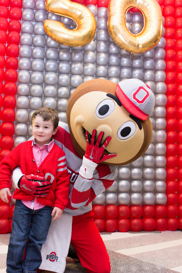 Photo stations during the Brutus 50th reception at the Ohio Union on Friday, Nov. 6th, 2015. (Office of Student Life, Ohio State University)