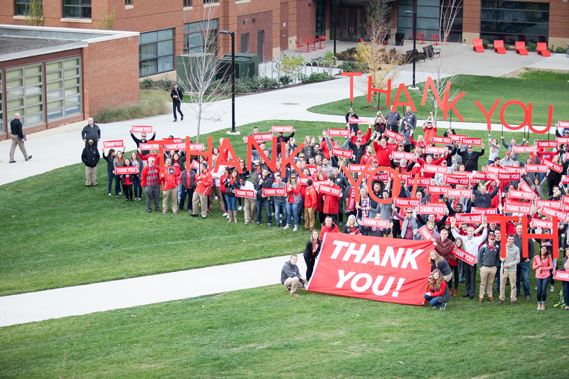 Student and Staff thank Board of Trustees