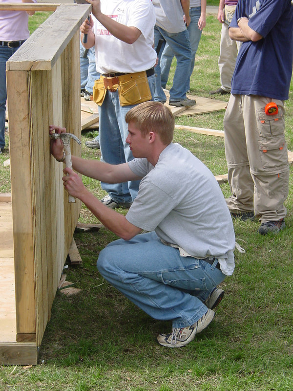 2002 Homecoming Habitat for Humanity and Football Toss