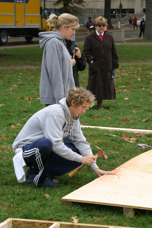 2003 Homecoming Habitat for Humanity and Football Toss