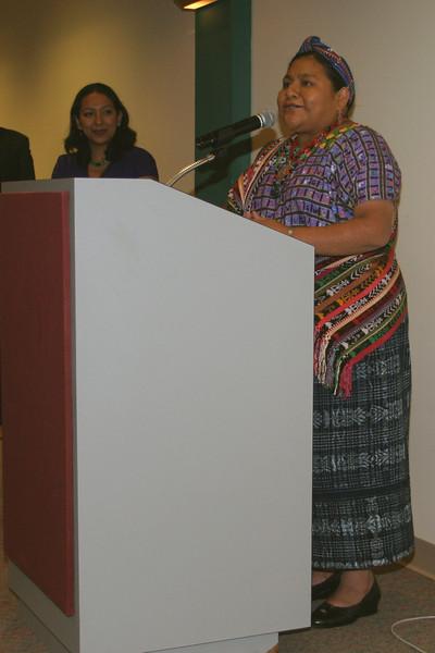 2007 Homecoming Dessert with Rigoberta Menchu