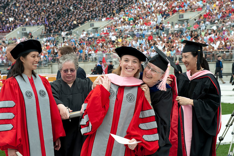 Job # 100462<br /> Spring Commencement<br /> Speaker David R. Gergen, Professor of Public Service and Director, Center for Public Leadership Harvard Kennedy School<br /> Ohio Stadium<br /> JUN-13-2010<br /> Photo by Jo McCulty<br /> The Ohio State University