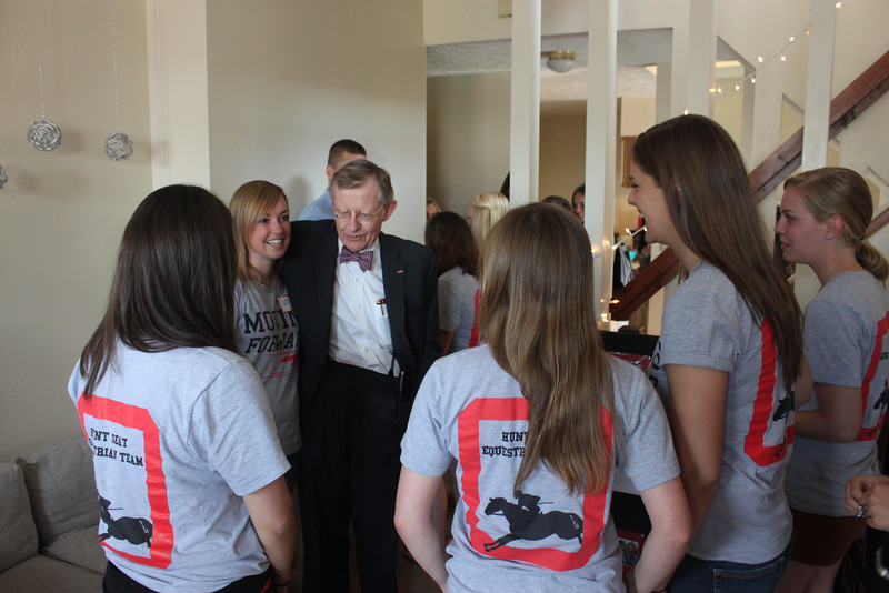 2012 Equestrian Team with Dr. Gee