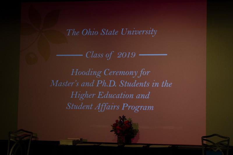 2019 HESA Hooding Ceremony