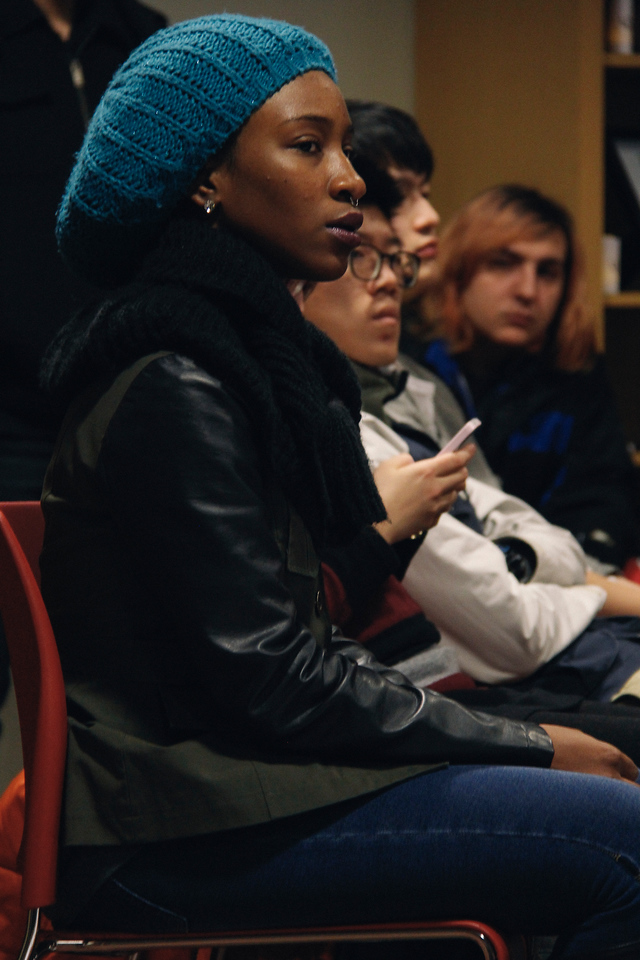 Justice for Ayotzinapa, Multicultural Center, Candle light vigil, in The Alonso Family Room in the Ohio Union  of The Ohio State University in Columbus, Ohio in on Thursday November 20, 2014. (Katie Riccardella/ Ohio State University)