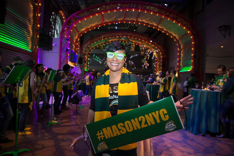 Gigi Green attends the Ignite Your Mason Spirit Reception at the Brooklyn Academy of Music - Lepercq Space in Brooklyn, NY. George Mason Patriots play against the Fordham Rams in the Opening Round of the 2014 Atlantic 10 Men's Basketball Championship. Photo by Craig Bisacre/Creative Services/George Mason University