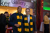 President Ángel Cabrera and Lamar Butler pose for a photo during the Ignite Your Mason Spirit Reception at the Brooklyn Academy of Music - Lepercq Space in Brooklyn, NY. George Mason Patriots play against the Fordham Rams in the Opening Round of the 2014 Atlantic 10 Men's Basketball Championship. Photo by Craig Bisacre/Creative Services/George Mason University