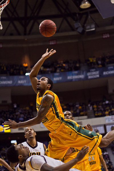 2012 CAA Tournament Semifinals, George Mason vs Virginia Commonwealth 64-74 at The Richmond Collosium