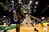 George Mason Patriots forward Johnny Williams (2) guards the inbound pass in the second half against James Madison Dukes at the Patriot Center on Tuesday, January 15, 2013. Photo by Craig Bisacre/Creative Services/George Mason University