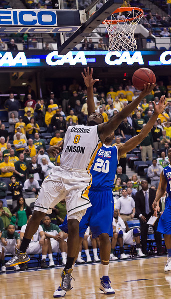 2012 CAA Tournament George Mason beats Georgia State 61-59 at The Richmond Collosium