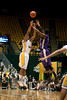 George Mason Patriots guard Sherrod Wright (10) shoots a three point in the first hal against James Madison Dukes at the Patriot Center on Tuesday, January 15, 2013. Photo by Craig Bisacre/Creative Services/George Mason University