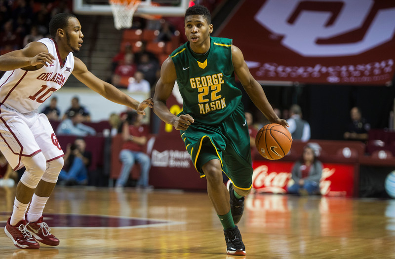 George Mason Men's Basketball travels to #16 Oklahoma University on New Years Eve at the Lloyd Noble Center. Photo by Craig Bisacre/Creative Services/George Mason University