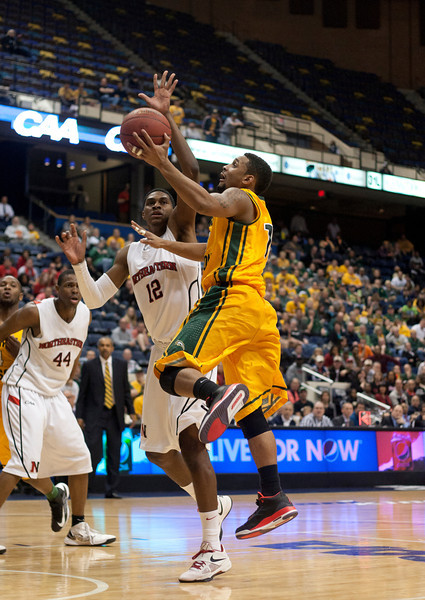 George Mason loses to Northeastern in the final seconds of the CAA Tournament Semifinals.  Photo by Craig Bisacre/Creative Services/George Mason University