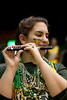 A student of The Green Machine performs after beating James Madison Dukes 68 to 57 at the Patriot Center on Tuesday, January 15, 2013. Photo by Craig Bisacre/Creative Services/George Mason University