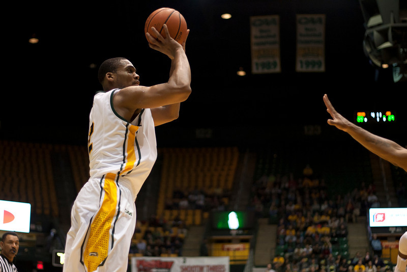 George Mason Patriots forward Johnny Williams (2) shoots a jump shot in the first half against James Madison Dukes at the Patriot Center on Tuesday, January 15, 2013. Photo by Craig Bisacre/Creative Services/George Mason University