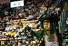 The George Mason Patriot dances during a timeout in the second half against James Madison Dukes at the Patriot Center on Tuesday, January 15, 2013. Photo by Craig Bisacre/Creative Services/George Mason University