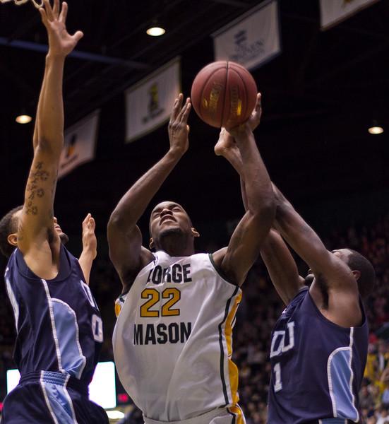 Mason Homecoming 2012 basketball game at the Patriot Center, Fairfax Campus.