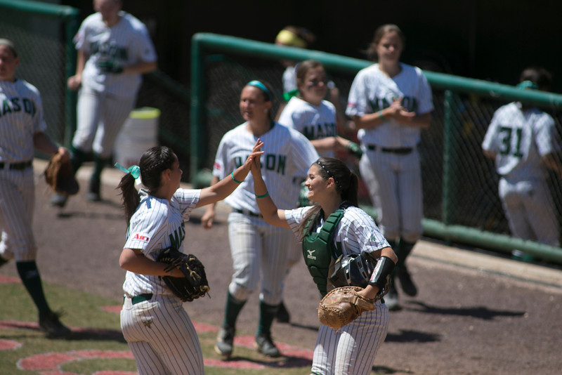 George Mason Softball team plays Saint Louis University. Photo by Craig Bisacre/Creative Services/George Mason University