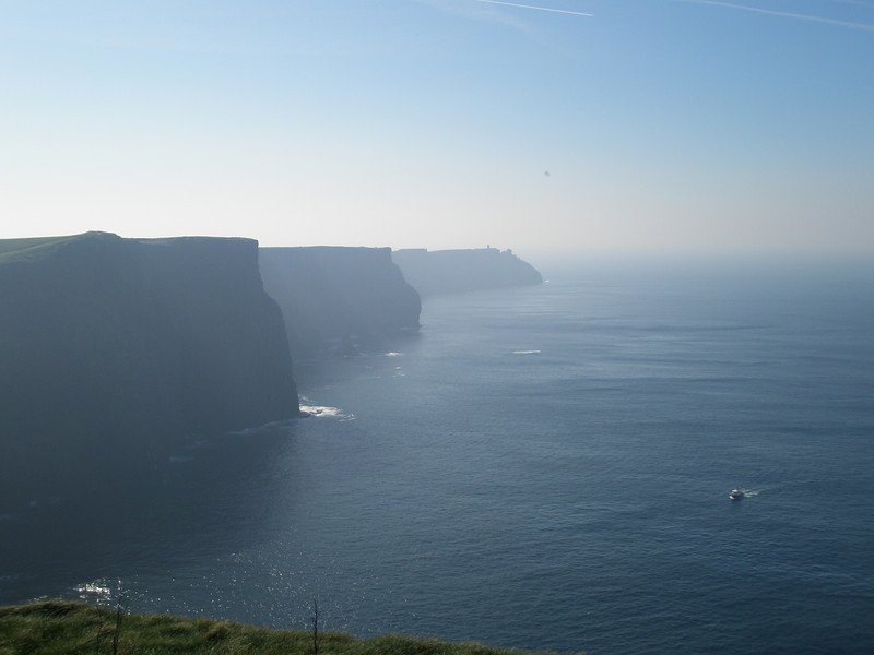 Visiting in the Cliffs of Moher in Ireland, March 2009.