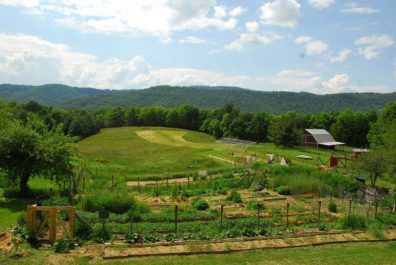 The gardens at Bethlehem Farm in West Virginia.