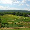 The gardens at Bethlehem Farm in West Virginia.