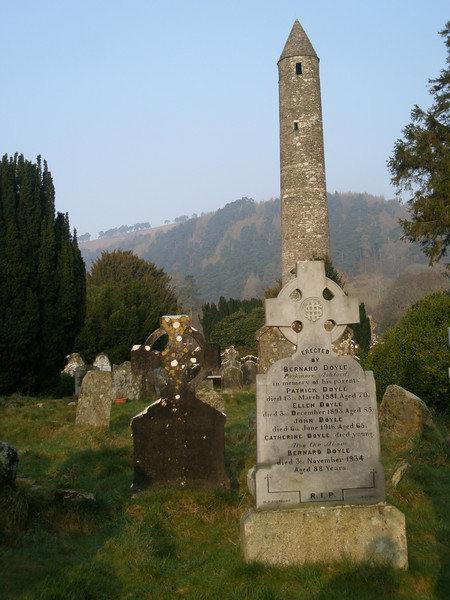 Some of the beautiful grounds at Glendalough, Ireland, March 2009.