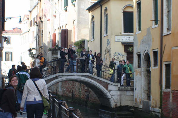Exploring the street, canals, and bridges of Venice, Italy in March 2008.