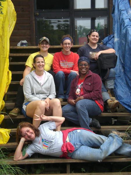 Volunteering and learning sustainable practices at Bethlehem Farm in May 2012.