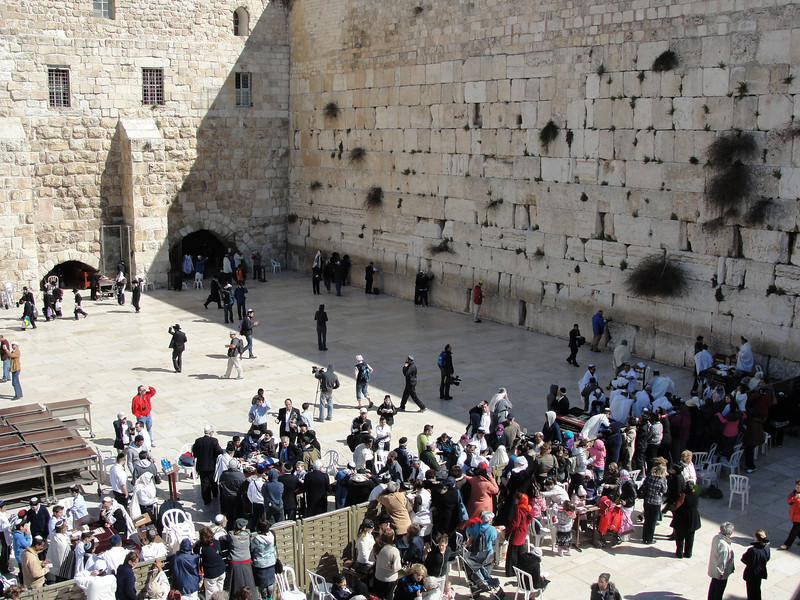 Going to leave our prayers at the Western Wall in Old City Jerusalem in May 2010.
