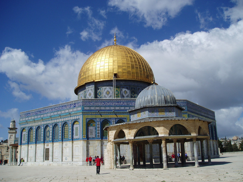 One of many holy site visits on pilgrimage to the Holy Land in March 2010--The Dome of the Rock.